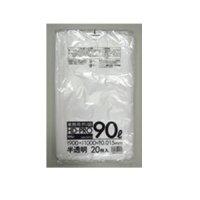 HHJ GK93 ポリ袋 90L 半透明 0.015 【800枚入り】(20枚×40冊)