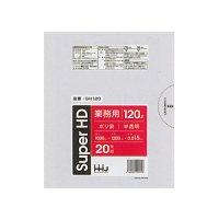 HHJ GH120 ポリ袋120L 半透明 0.015 【400枚入り】(20枚×20冊)