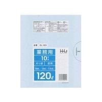 HHJ GL123 ポリ袋120L 透明 0.03 【200枚入り】(10枚×20冊)