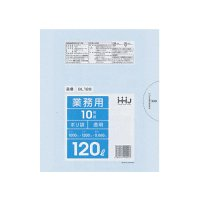 HHJ GL128 ポリ袋120L 透明 0.06 【100枚入り】(10枚×10冊)