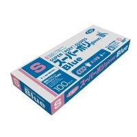 【新規受注停止中】スーパーポリグローブ ブルー S 【4000枚入り】(100枚×40箱)