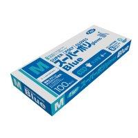 【新規受注停止中】スーパーポリグローブ ブルー M 【4000枚入り】(100枚×40箱)