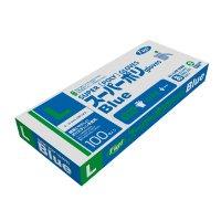 【新規受注停止中】スーパーポリグローブ ブルー L 【4000枚入り】(100枚×40箱)