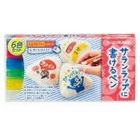 サランラップに書けるペン 6色セット 【48個入り】