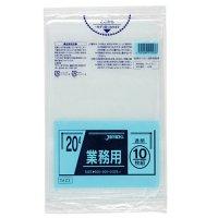 ジャパックス TM23 業務用ポリ袋20L 透明0.025 LL+meta 10枚入り×60冊【600枚】