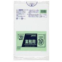 ジャパックス TM24 業務用ポリ袋20L 半透明0.025 LL+meta 10枚入り×60冊【600枚】