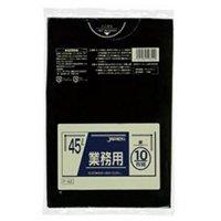 ジャパックス P-42 業務用ポリ袋45L 黒0.03 LLDPE 10枚入り×60冊【600枚】