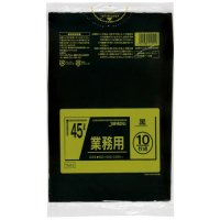 ジャパックス TM42 業務用ポリ袋45L 黒0.025 LL+meta 10枚入り×60冊【600枚】