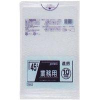 ジャパックス TM43 業務用ポリ袋45L 透明0.025 LL+meta 10枚入り×60冊【600枚】