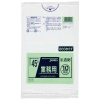 ジャパックス TM49 業務用ポリ袋45L 半透明0.02 LL+meta 10枚入り×60冊【600枚】