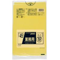 ジャパックス CY45 業務用ポリ袋45L 黄色 0.03 LLDPE 10枚入り×60冊【600枚】