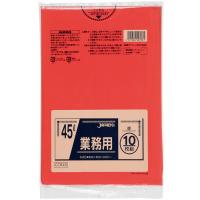 ジャパックス CCR45 カラーポリ袋45L赤 (10枚) 0.03 LLDPE 10枚入り×60冊【600枚】