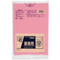 ジャパックス CCP45 カラーポリ袋45Lピンク (10枚) 0.03 LLDPE 10枚入り×60冊【600枚】