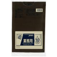 ジャパックス CCB45 カラーポリ袋45L茶 (10枚) 0.03 LLDPE 10枚入り×60冊【600枚】