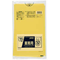 ジャパックス CY70 業務用ポリ袋70L 黄色 0.04 LLDPE 10枚入り×40冊【400枚】