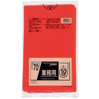ジャパックス CCR70 カラーポリ袋70L赤 (10枚) 0.04 LLDPE 10枚入り×40冊【400枚】