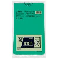 ジャパックス CCG70 カラーポリ袋70Lグリーン 10枚 0.04 LLDPE 10枚入り×40冊【400枚】