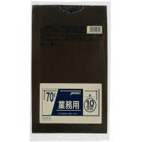 ジャパックス CCB70 カラーポリ袋70L茶 10枚 0.04 LLDPE 10枚入り×40冊【400枚】