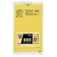 ジャパックス CY90 業務用ポリ袋90L 黄色 0.045 LLDPE 10枚入り×30冊【300枚】