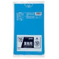 ジャパックス TM71 業務用ポリ袋70L 青0.035 LL+meta 10枚入り×40冊【400枚】
