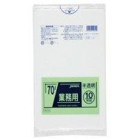 ジャパックス TM74 業務用ポリ袋70L 半透明0.035 LL+meta 10枚入り×40冊【400枚】