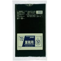 ジャパックス P-72 業務用ポリ袋70L 黒0.04 LLDPE 10枚入り×40冊【400枚】
