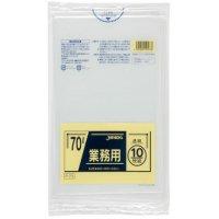 ジャパックス P-73 業務用ポリ袋70L 透明0.04 LLDPE 10枚入り×40冊【400枚】