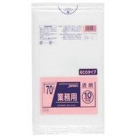 ジャパックス TM78 業務用ポリ袋70L 透明0.03 LL+meta 10枚入り×40冊【400枚】
