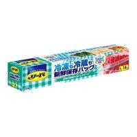 リード 冷凍も冷蔵も新鮮保存バッグ L (14枚) 14枚入り×24箱【336枚】