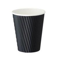 FR-5312 リップルカップ ブラック 9オンス 50個入り×30袋【1,500個】