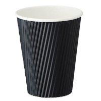 FR-5313 リップルカップ ブラック 12オンス 40個入り×30袋【1,200個】