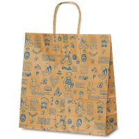 No.1651 T-6 自動紐手提袋 ベアコレクション(ブルー) 【200枚入り】