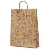 No.1851 T-8 自動紐手提袋 ベアコレクション(ブルー) 【200枚入り】