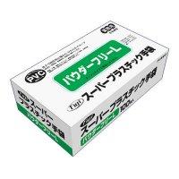 【新規受注停止中】フジスーパープラスチック手袋 粉無 L 100枚入り×30箱【3,000枚】