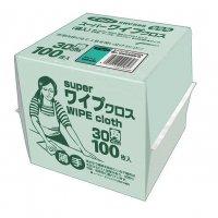 フジスーパーワイプクロス グリーン 100枚袋入 12袋入り【1,200枚】