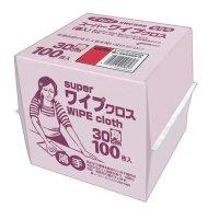 フジスーパーワイプクロス ピンク 100枚箱入 12箱入り【1,200枚】