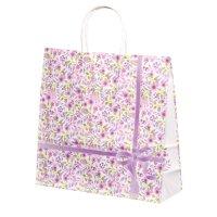 自動手提袋X型(3切) HX 紫花(アイカ) 【200枚入り】