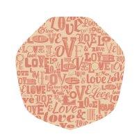 ラミクレープクラフト包装紙 変形 LOVE 200枚袋 200枚入り×15袋【3,000枚】