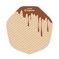 ラミクレープクラフト包装紙 変形 チョコレート 200枚袋 200枚入り×15袋【3,000枚】
