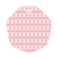 ラミクレープ包装紙 変形 ピンク 200枚袋 200枚入り×15袋【3,000枚】