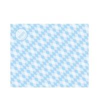 ラミクレープ包装紙 S四角 ブルー 200枚袋 200枚入り×15袋【3,000枚】
