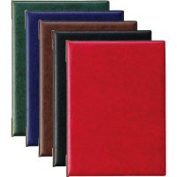 【最小購入数3冊】レザータッチメニュー LB-401(大・A4) ダークブルー/レッド/グリーン/ブラック/ブラウン