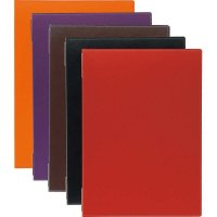 【最小購入数2冊】ライトレザーピンホールメニュー LB-731(大・A4) ブラック/エンジ/ブラウン/オレンジ/パープル