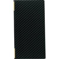 【最小購入数3冊】合皮キルトピンホール メニュー LB-824(タテ大) 黒/赤