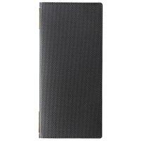 【最小購入数3冊】カーボンレザータッチピンホールメニュー GB-115(タテ小) ブラック/ブラウン
