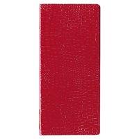 【最小購入数3冊】クロコレザータッチピンホールメニュー GB-125(タテ小) レッド/ブラウン/ブラック