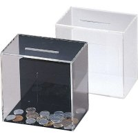 【最小購入数2個】アンケート・募金・応募BOX ES-2 黒/白