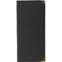 【最小購入数10冊】ラバー二ツ折伝票ホルダー BH-4 ブラック/ブルー/グリーン/ブラウン/エンジ
