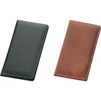 【最小購入数2冊】本革二ツ折伝票ばさみ BH-210 ブラック/ブラウン