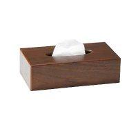 【最小購入数3個】ウッドシリーズ 木製ティッシュケース(MDF) TC-76 ブラウン/ナチュラル